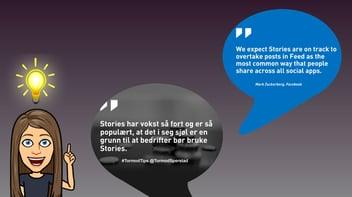 BildeBloggStoriesFace Hvordan bruke Stories i markedsføringen av din bedrift