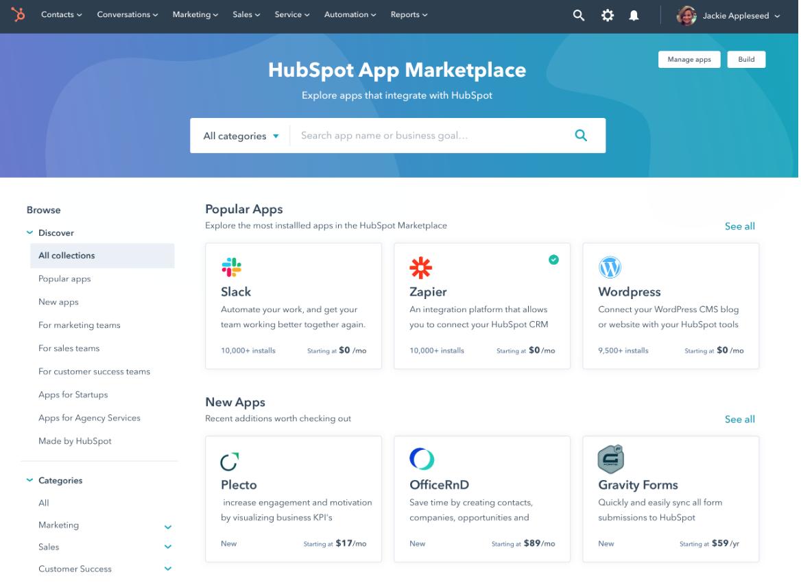 Nyheter i HubSpot - Marketplace