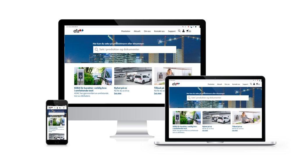 Nettsider for Efa Elektro