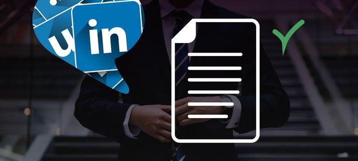 poste innhold på LinkedIn