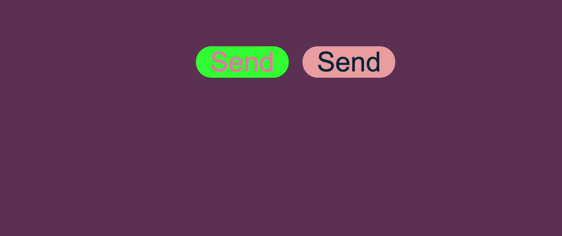 Demo på side som viser knapper med forskjellig kontrast
